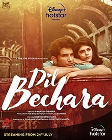 dil bechara poster box office budget